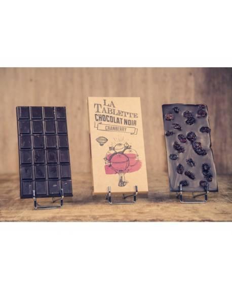 TABLETTE CHOCOLAT NOIR & CRANBERRIES 100G Accueil