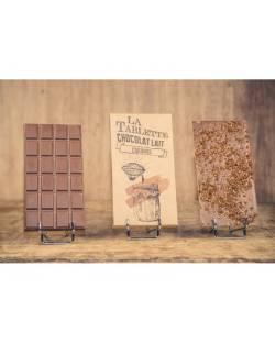 TABLETTE CHOCOLAT AU LAIT ET CARAMEL 100G