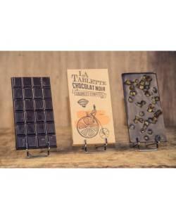 TABLETTE CHOCOLAT NOIR ET ORANGES CONFITES 100G