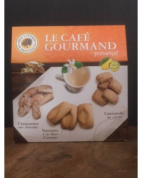 LE CAFE GOURMAND PROVENCAL 240G Epicerie sucrée Biscuiterie de Provence