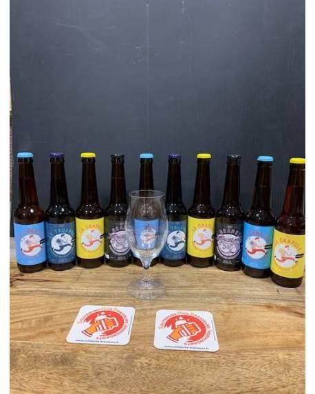 COFFRET BRASSERIE DES MALFAITEURS 10 bières + 1 verre Coffrets découvertes Brasserie des Malfaiteurs