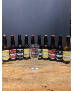 COFFRET BRASSERIE DES GARDIANS 10 bières + 1 verre