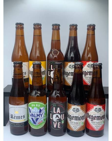 COFFRET BRASSERIE ORGEMONT 10 bières + 1 verre Coffrets découvertes