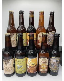 COFFRET BIERES ARTISANALES AU MIEL 10 bières + 1 verre